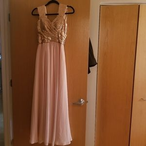 Sweetheart Bridesmaid Dress with Sequin Top - S